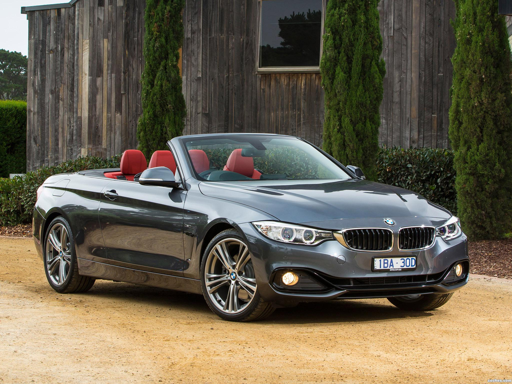 fotos de bmw serie 4 428i cabrio sport line f33 australia 2014. Black Bedroom Furniture Sets. Home Design Ideas