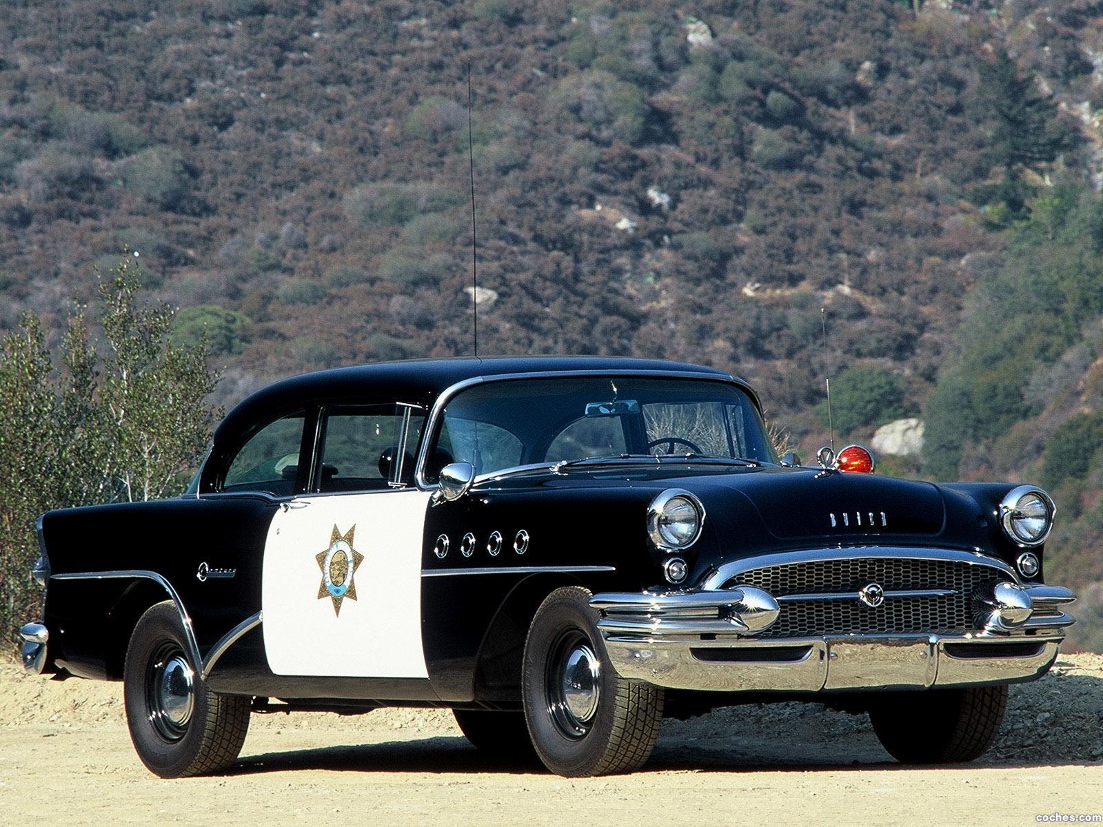 Foto 0 de Buick Century dos puertas Sedan Highway Patrol Police Car 1955