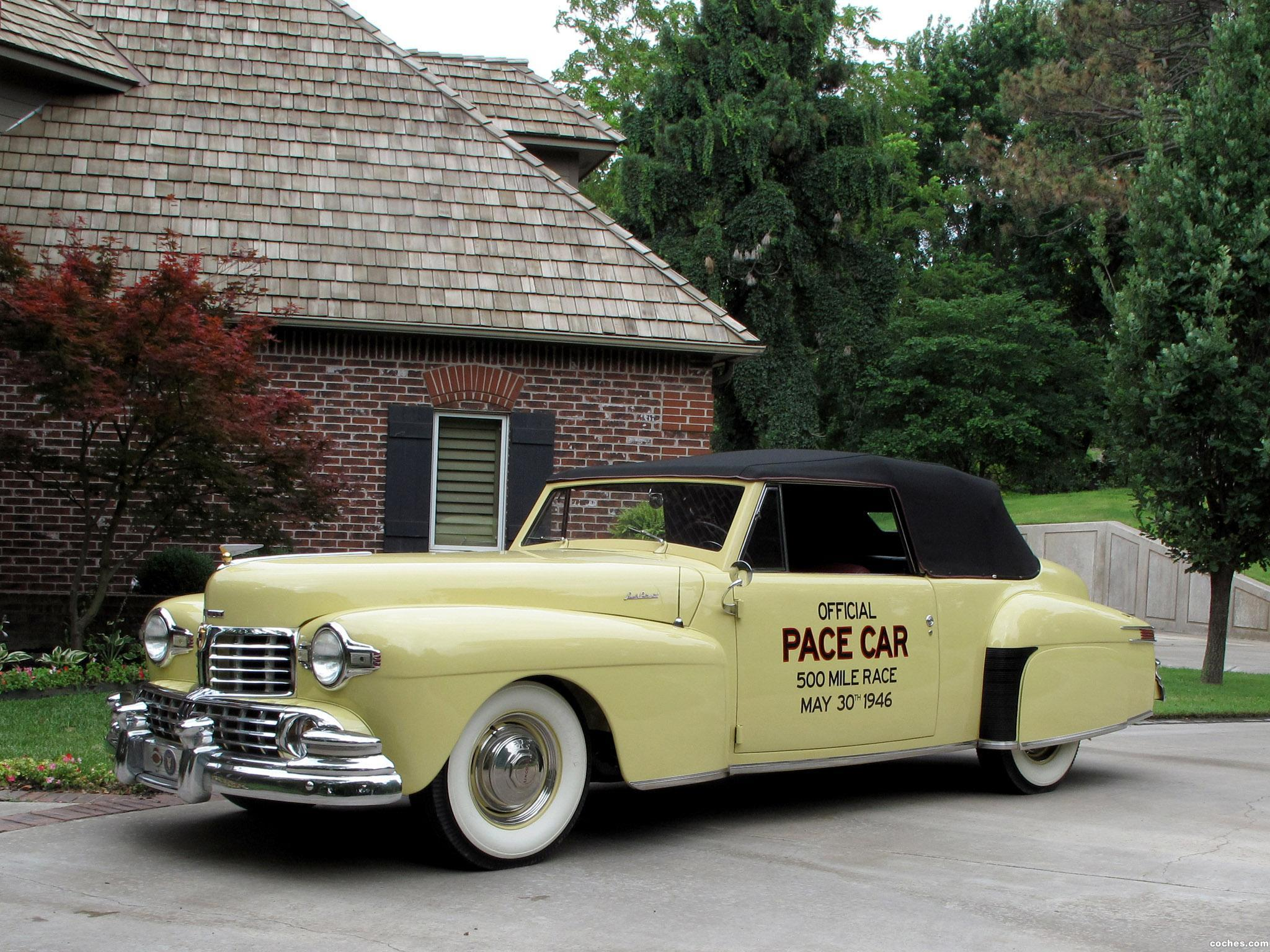 Foto 0 de Lincoln Continental Indy Pace Car 1946
