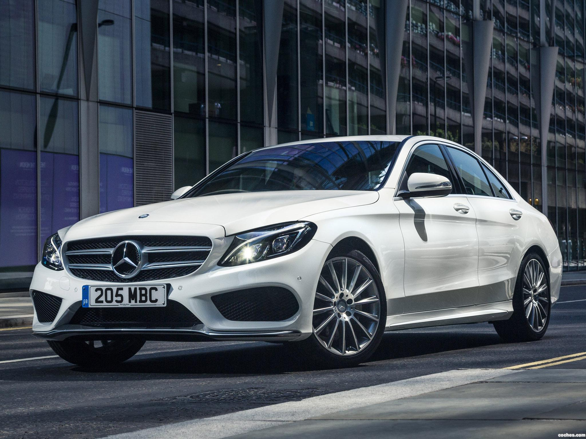 fotos de mercedes clase c c220 bluetec amg line w205 uk 2014. Black Bedroom Furniture Sets. Home Design Ideas