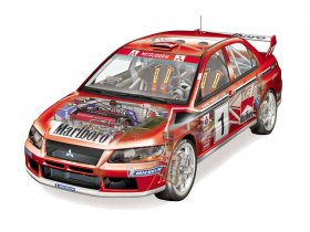 Ver foto 5 de Mitsubishi Lancer Evolution VII WRC 2001