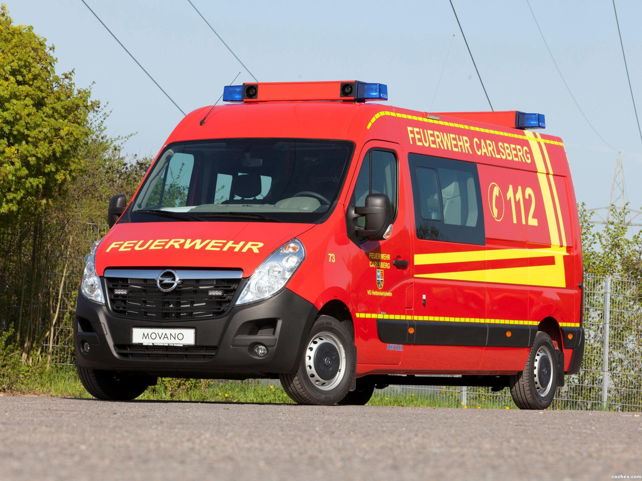 Foto 0 de Opel Movano Van Feuerwehr 2013