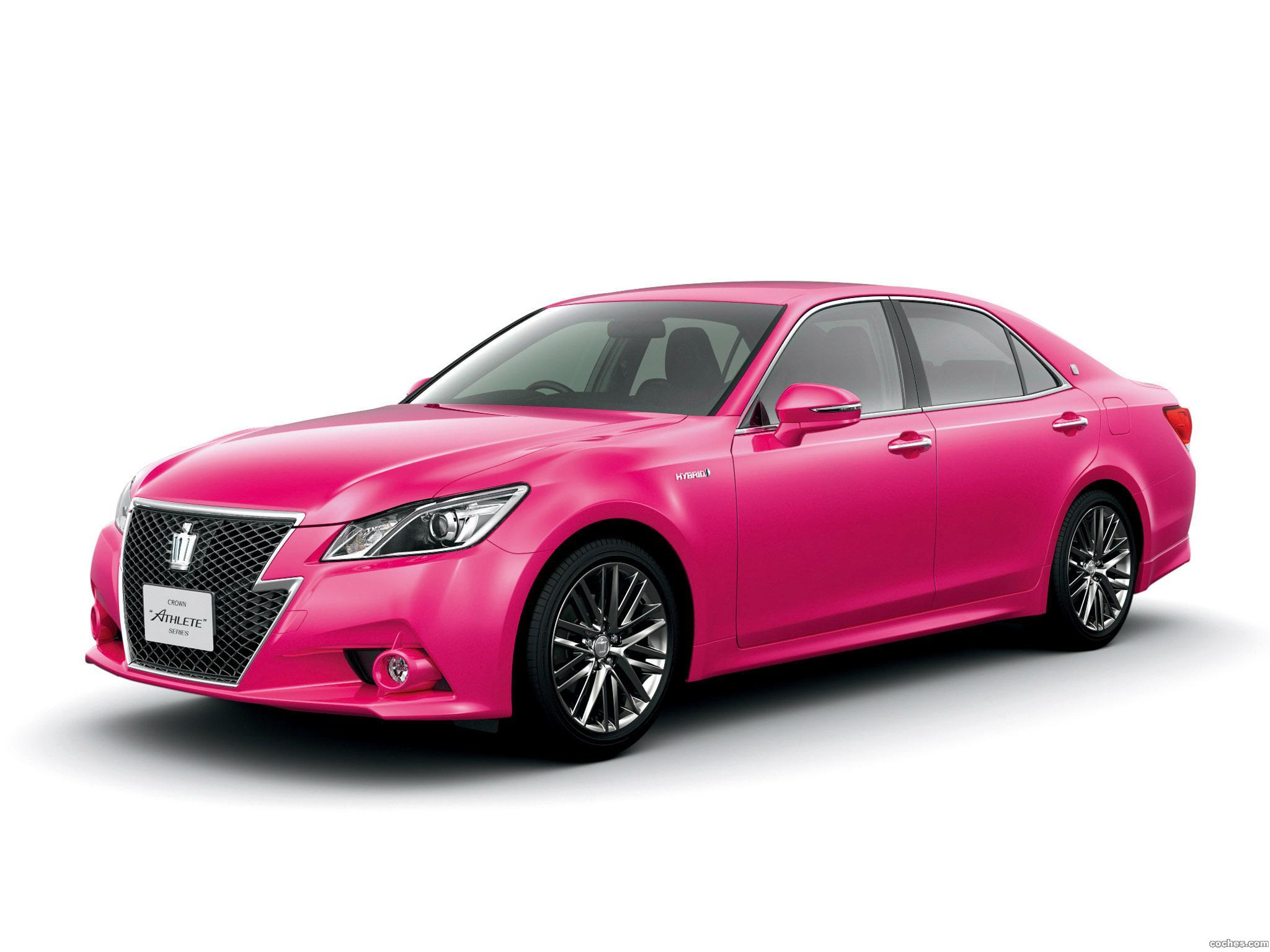 Foto 0 de Toyota Crown Hybrid Athlete Pink S210 2013