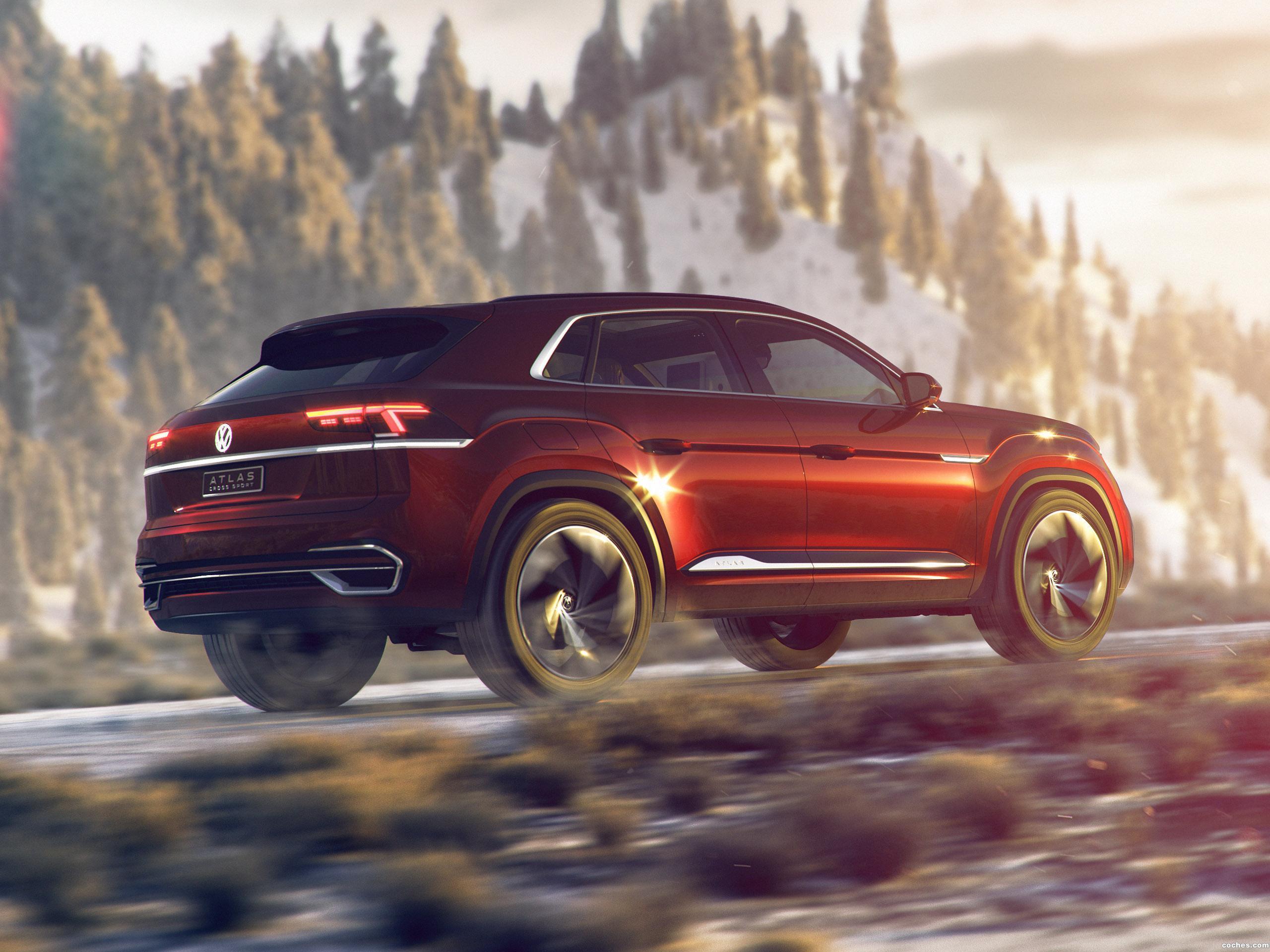 Foto 2 de Volkswagen Atlas Cross Sport Concept 2018 2018